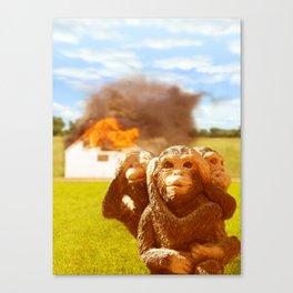 Monkeys Make Bad Pets. Canvas Print