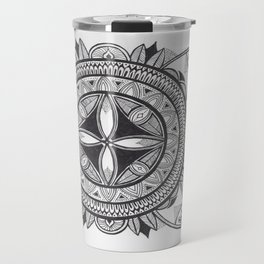 Hand Drawn Sabali Mandala Travel Mug