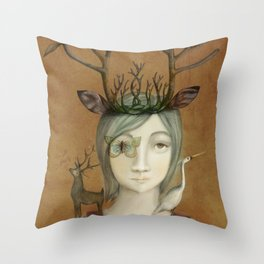 queen of the earth Throw Pillow