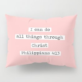 I Can Do All Things Typewriter Pillow Sham