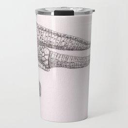 Happy Chameleon (pen and ink) Travel Mug