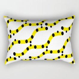 Yellow organic shapes Rectangular Pillow
