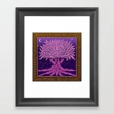 ombo pink tree of life Framed Art Print