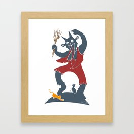 Krampus + Kitties Framed Art Print
