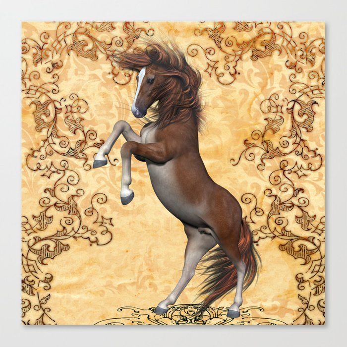 Awesome brown horse  Canvas Print