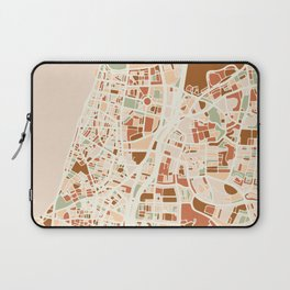 TEL AVIV ISRAEL CITY MAP EARTH TONES Laptop Sleeve