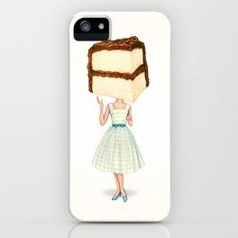 Cake Head Pin-Up - Chocolate iPhone Case
