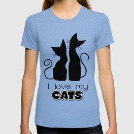 I Love My Cats (Lights) T-shirt