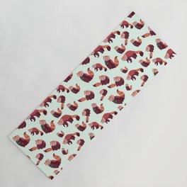 Red Panda Pattern Yoga Mat