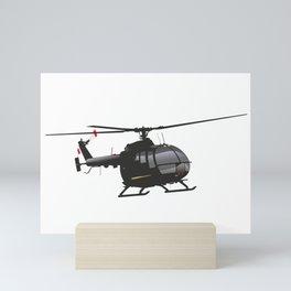 Black German Helicopter Mini Art Print