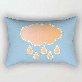 orange cloud, rainy day and blue background Rectangular Pillow