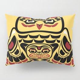 Owl, North-American art stylization Pillow Sham