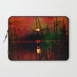 tramonto astratto Laptop Sleeve