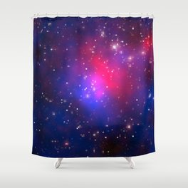 Galactic Squares #3 Shower Curtain