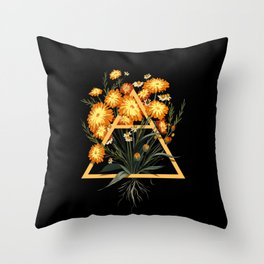 Tea Element - Air / Chamomile Calendula Throw Pillow