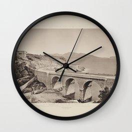 Marseille. Route de la Cornice Les Travaux Publics de la France Wall Clock