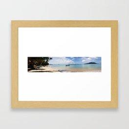 Phuket Beach Panoramic.  Framed Art Print