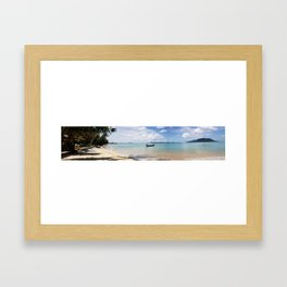 Phuket Beach Panoramic.  Framed Art Print