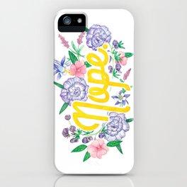 Profanity Flowers #3: NOPE iPhone Case