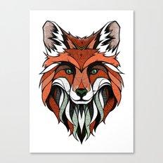 Fox // Colored Canvas Print