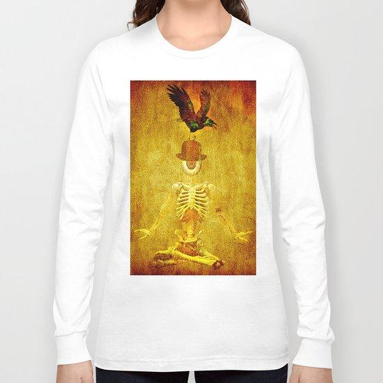 Monsieur Bone and Archibald the crow Long Sleeve T-shirt