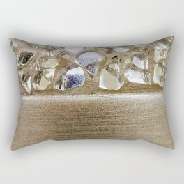 Gold Iridescence and Mirrors Rectangular Pillow