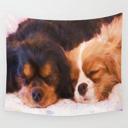 Sleeping Buddies Cavalier King Charles Spaniels Wall Tapestry