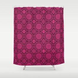 Pink Yarrow Star Shower Curtain
