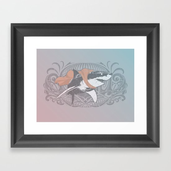 Fearless Creature: Whitey Framed Art Print