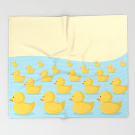 Rubber Duckie Army Throw Blanket