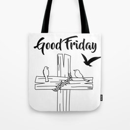 Cross With Bird Tote Bag