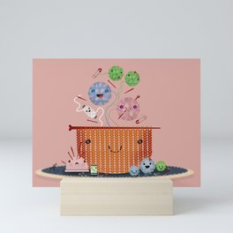 Knitting Pot Mini Art Print