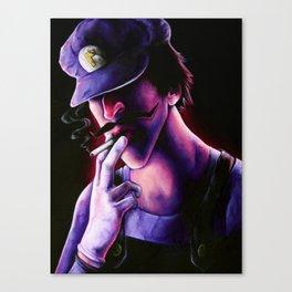 Waluigi Canvas Print