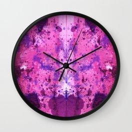 Purple Frenchy Heart Wall Clock