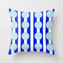 polka stripe Throw Pillow