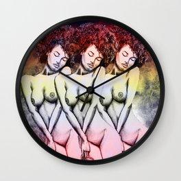 God is Female Wall Clock