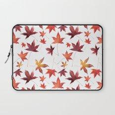 Dead Leaves over White Laptop Sleeve