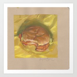 Chicken Sandwich Art Print
