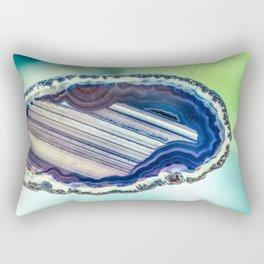 Blue purple geode Rectangular Pillow