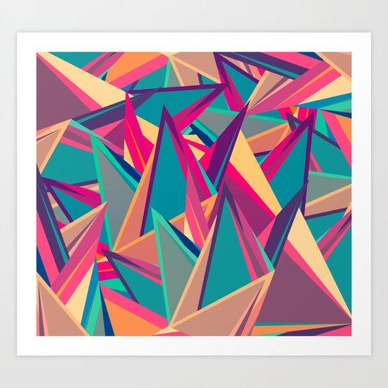Triangles Intensive (Full) Art Print