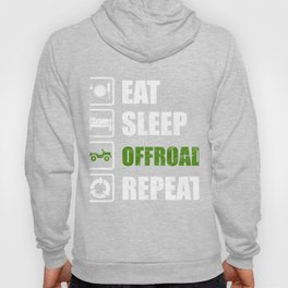 Eat Sleep Offroad Repeat Overland 4x4 4x4 Hoody