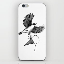 nuthatch delivers an ice cream cone iPhone Skin