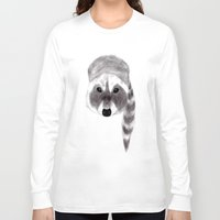 racoon Long Sleeve T-shirts featuring Racoon by MichaelJenningsDoodleBoy