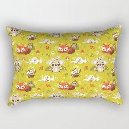 Sleeping Woodland Animals Rectangular Pillow