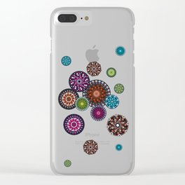 Mandala Dots Clear iPhone Case