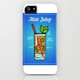 Mint Julep Cocktail Barkeeper Bar Restaurant iPhone Case