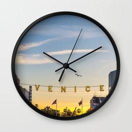 VENICE BEACH FEB 2017 Wall Clock