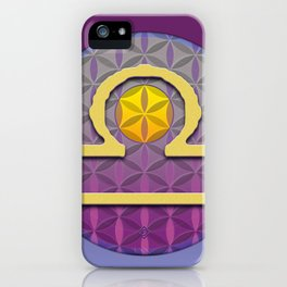 Flower of Life LIBRA Astrology Design iPhone Case
