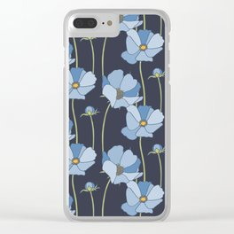 Cosmos in Blues Clear iPhone Case