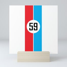 Brumos Racing Stripes Mini Art Print